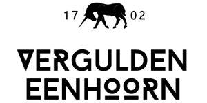 Logo-vergulden eenhoorn
